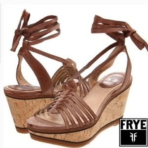 Frye Carlie Strappy wedge shoes